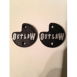 "CPE-OUTLAWMOTCVR: ""Outlaw"" Embossed Motor Covers"