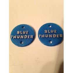 "CPE-BTMOTCVR: ""Blue Thunder"" Embossed Motor Covers"