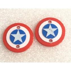 "CPE-CAPAMMOTCVR: ""Captain America"" Embossed Motor Covers"