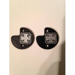 "CPE-CROSSMOTCVR: ""Iron Cross"" Embossed Motor Covers"