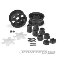 CPE-DRAGONb: Dragon Mega Truck Wheel Pair - Black