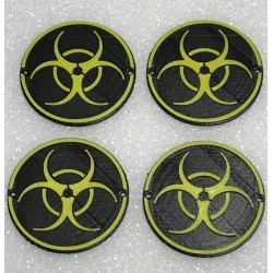 CPE-DRAGRINGBIO: Dragon Wheel Biohazard Ring Set