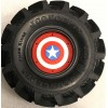 CPE-DRAGRINGCAPAM: Dragon Wheel Ring Set - Captain America