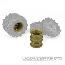 CPE-KRIMSDUALg: Krimson Dually Mega Truck Wheel Pair - Gold