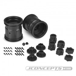 "CPE-MIDWESTb: Midwest 2.2"" Monster Truck Wheel Pair - Black"