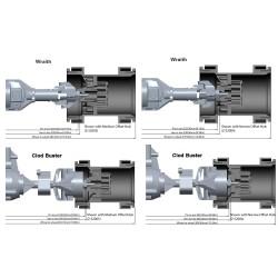 CPE-IGNITOR_MEDFLT:  Medium Offset Hub for Ignitor Wheels (Flat Hex)