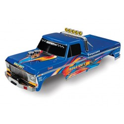 "CPE-TRA3661X: Complete Traxxas Painted/Decaled Bigfoot ""Blue-X"" Body"