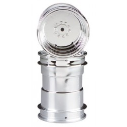 CPE-WHL2: Stock Clodbuster Plastic Wheel Pair - Chrome