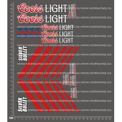 CPE-COORSSILBLTDECAL: Coors Light Silver Bullet Decal Sheet