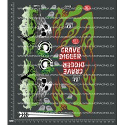 CPE-GD2DECAL: Grave Digger #2 Decal Sheet
